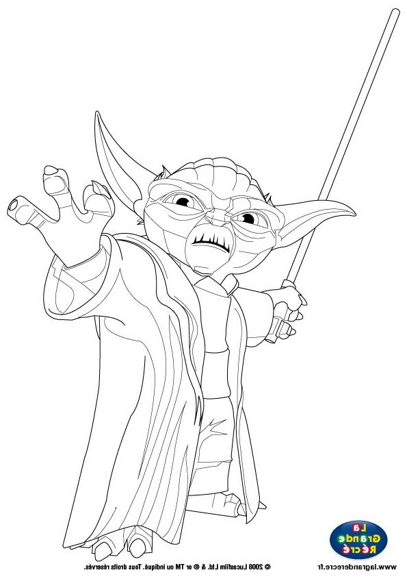 Coloriage Star Wars Yoda Awesome Coloriage Maitre Yoda