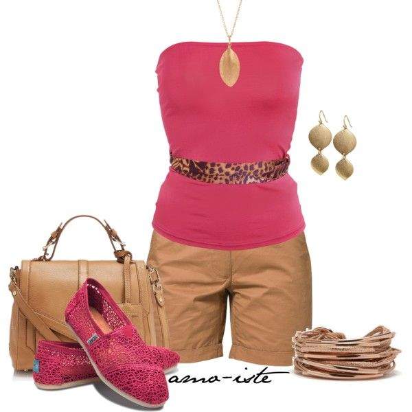A fashion look from May 2013 featuring Raxevsky tops, Pier 1 Imports shorts y TOMS flats. Browse and shop related looks.