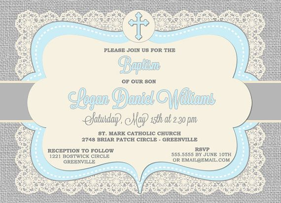 21 best Printable Baptism invitation images on Pinterest Baptism