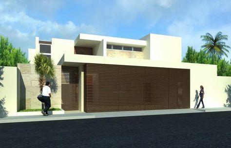fachadas de cocheras - Buscar con Google #fachadasverdescasa