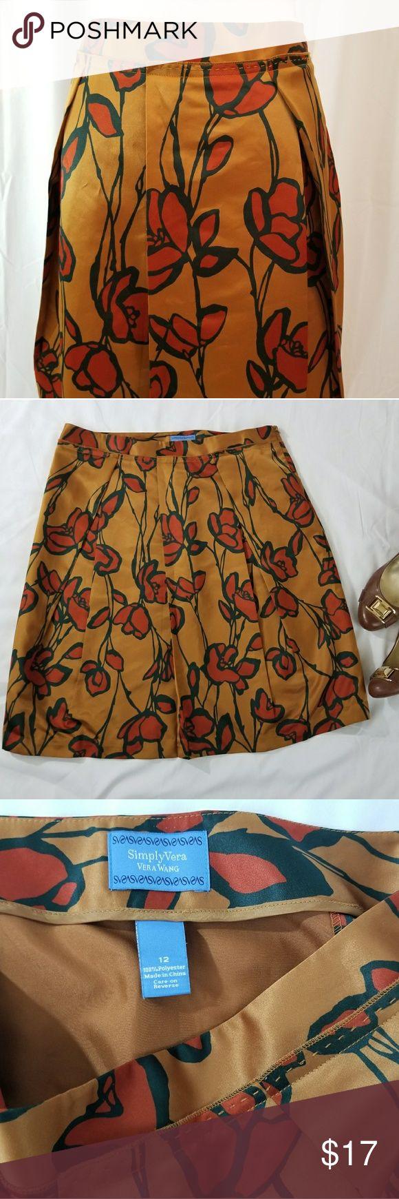 Simply Vera Wang Skirt size 12 Simply Vera Wang Skirt size 12 Beautiful Longer Aline skirt perfect for work to evening  A-26 Simply Vera Vera Wang Skirts A-Line or Full