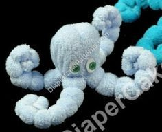 Easy Diaper Cake Instructions | ... to Learn How to Make a Washcloth Octopus | Diaper Cake Patterns