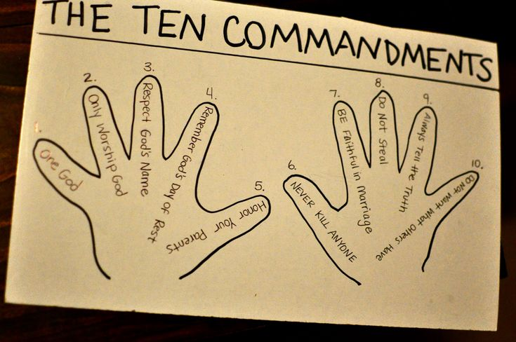 10 Commandments bible Kid Activities