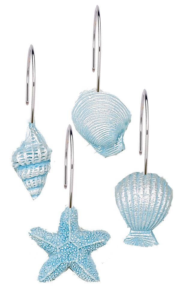 Carnation Home Fashions South Beach Shower Curtain Hooks   WayfairBest 25  Shower curtain hooks ideas on Pinterest   Organizing  . Teal Shower Curtain Hooks. Home Design Ideas