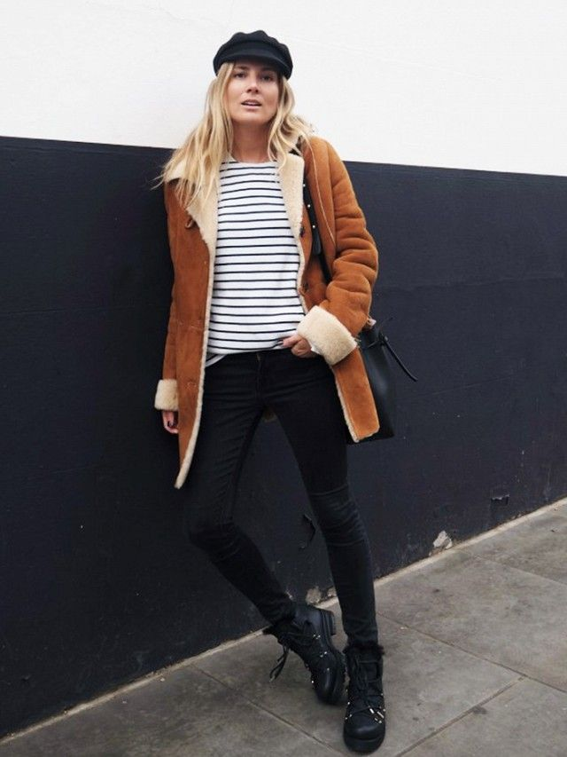 On Lucy Williams: Atterley coat; Isabel Marant Etoile hat; Saint James top; Frame Le Skinny de Jeanne Jeans(£230); Jimmy Choo Ditto Shealing Lined Leather and Canvas...