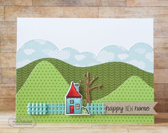 Card Making Ideas New Home Part - 36: Happy New Home Card By Shelly Mercado #Cardmaking, #NewHome, #TEMatched,