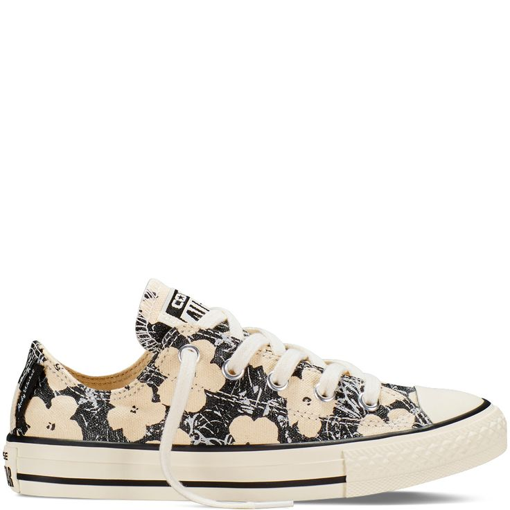 Converse Chuck Taylor All Star Andy Warhol Floral Lo-Top in Natural