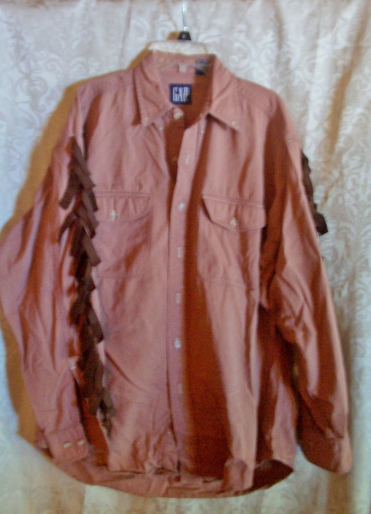 Indian Warrior Shirt Size Medium Western Halloween Theatrical Costume #Gap #TopShirt
