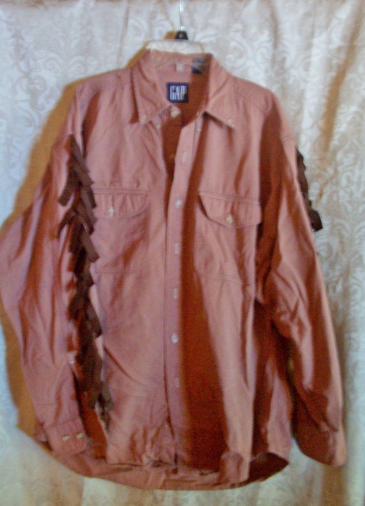Indian Warrior Shirt Size Medium Western Halloween Theatrical Costume #Gap #TopShirt
