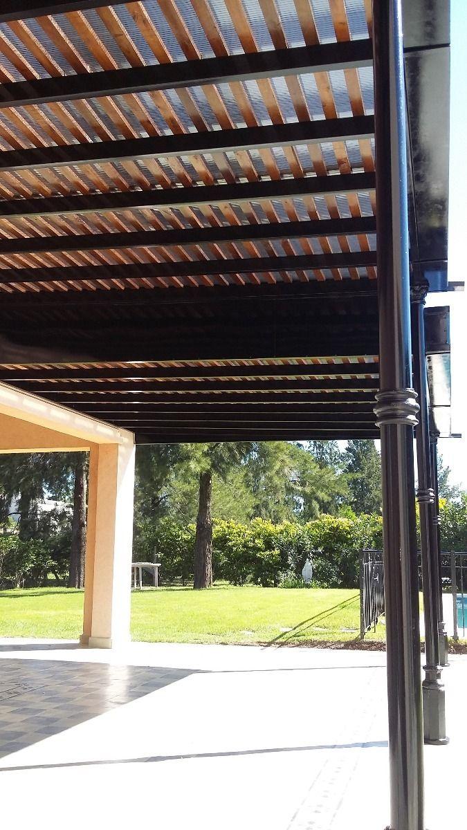 Pergola de hierro madera y policarbonato hotel en 2019 for Pergola policarbonato