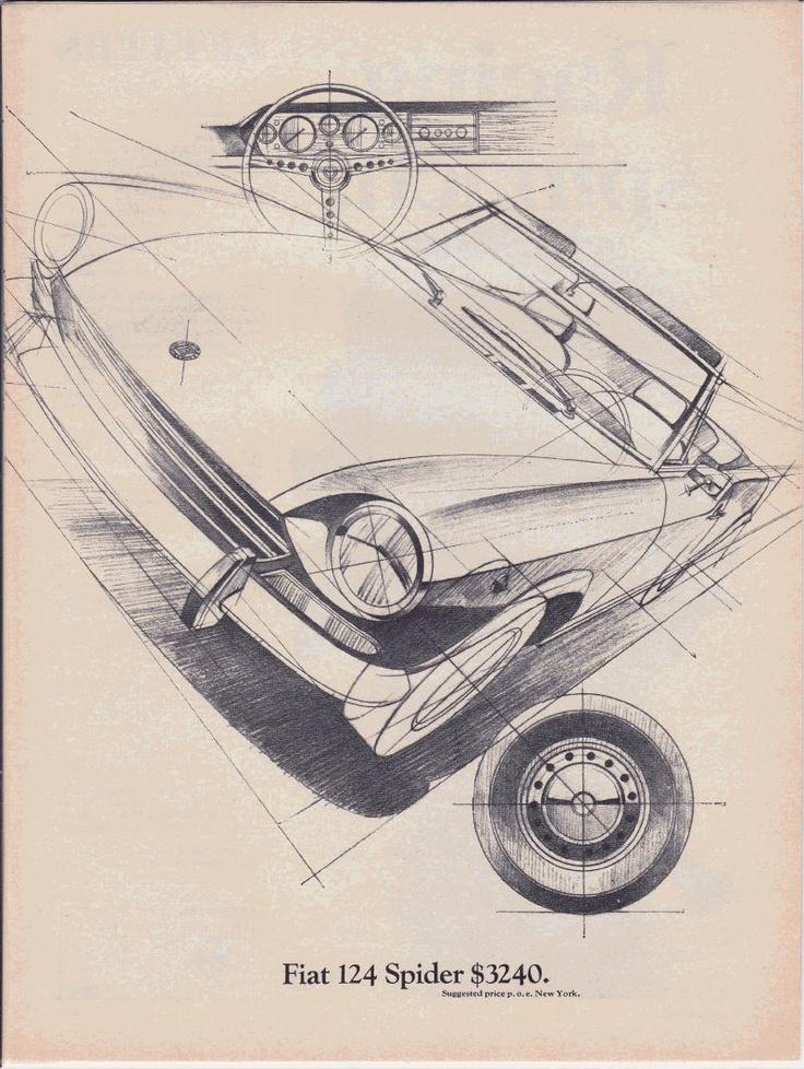 Fiat Spider print advertising 1969