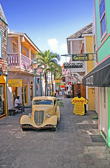 Philipsburg Old Street - St. Maarten.   Sint Maarten is completely different from its French sibling, which is part of its charm and appeal  Read more: http://www.lonelyplanet.com/st-martin-sint-maarten#ixzz3HYI3LKoT