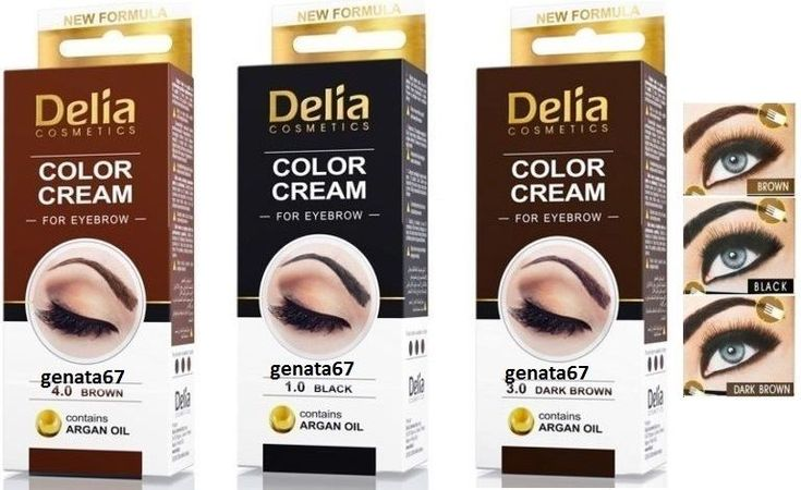 DELIA HENNA Eyebrow color cream Advanced, creamy eyebrow colourisation #DELIA