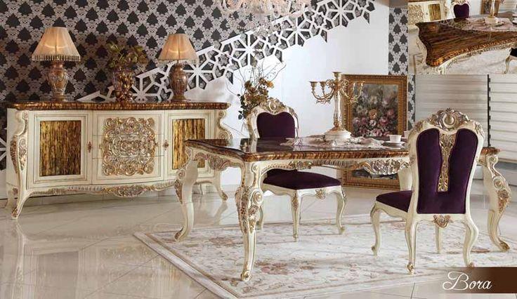 Zeliha Lüks Klasik Yemek Odası Takımı.  #YemekOdası #DiningRoom #Decoration #Ev #Dekorasyon #Moda #Mobilya #Furniture