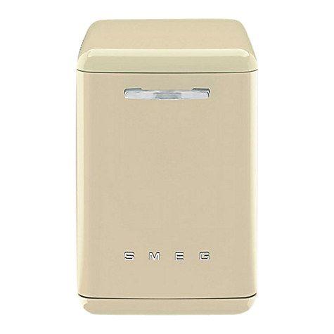 Buy Smeg DF6FABP2 Retro Freestanding Dishwasher, Cream Online at johnlewis.com