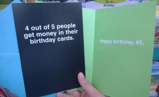 Great idea for a birthday card!