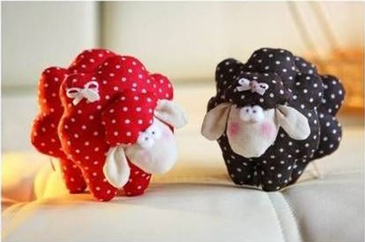 Pecorelle in stoffa Cartamodello