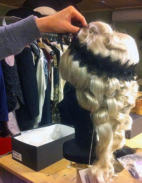 Decorating a wig at Atelier Marega, Venice for Carnival 2015 www.marega.it