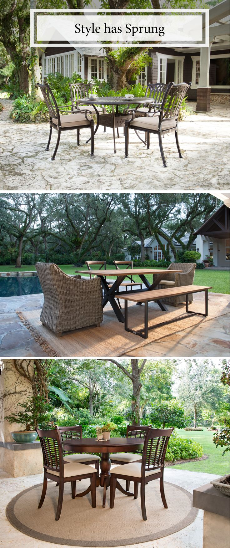 1000 images about the great outdoors on pinterest patio for Outdoor dining sets for small spaces