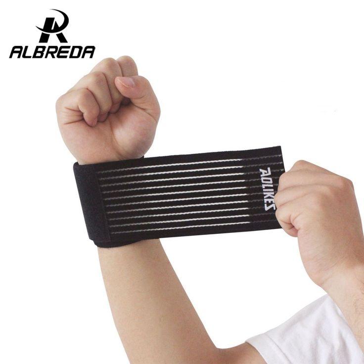 40*7.5cm cotton elastic bandage hand sport wristband gym support wrist brace wrap fitness tennis polsini sweat band munhequeira