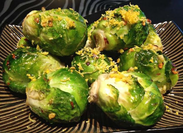 Lemon Zested Brussels Sprouts