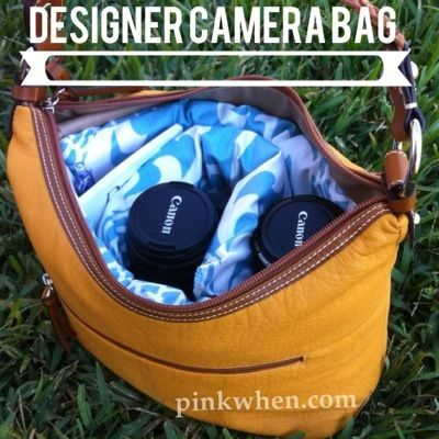 DIY Designer Camera Bag from Purse - EASY Instructions and diagrams, takes less than an hour! via @PinkWhen.com #Waverize