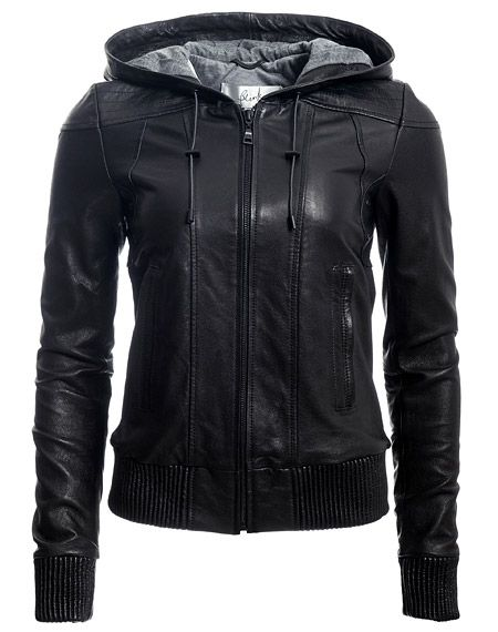 Best 25  Hooded leather jacket ideas on Pinterest | Fall jackets ...