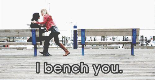 I bench you. Emma: @alabamacmiles Regina: @DancingMystic1