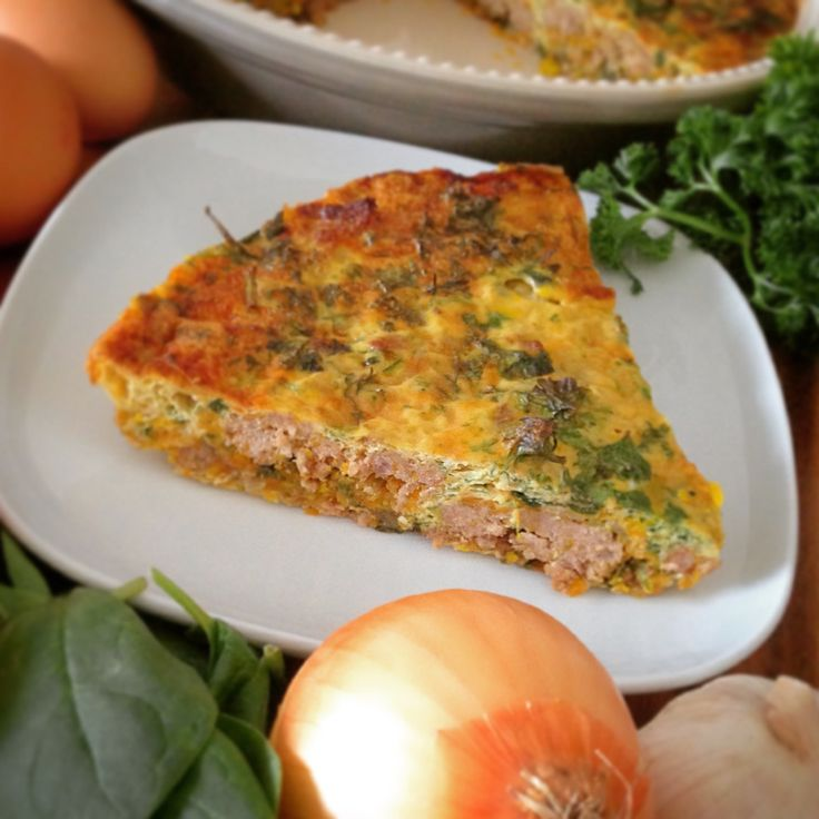 Hackfleisch Frittata mit Blattspinat und Karotten