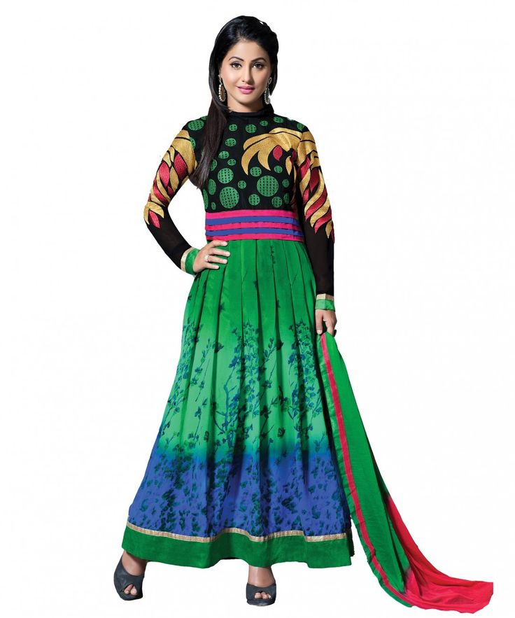 Latest Fashion Multi Colour Georgette Print Designer Dress Material