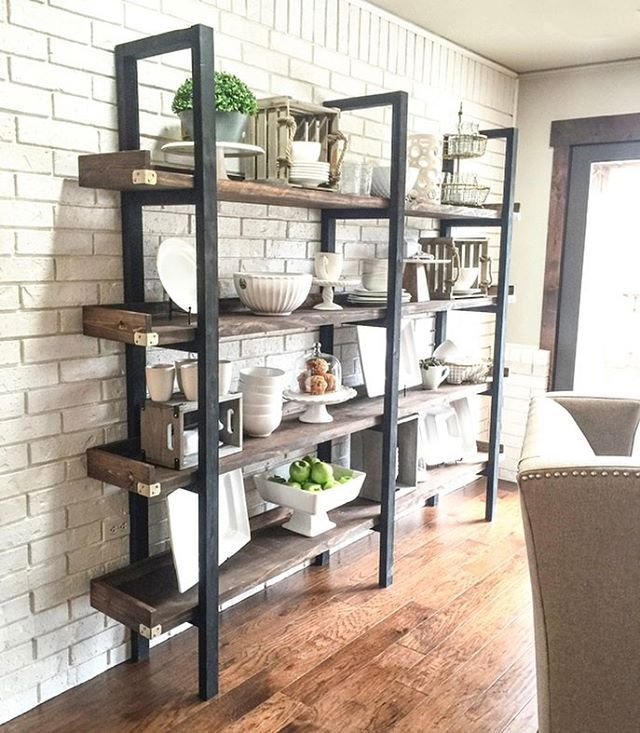 """We built this plate rack with about $95 in lumber ❤️❤️ Free plans on our site - link in profile…"""""""