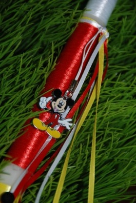 Mickey Mouse Easter Candle - $12.00  at www.greekweddingshop.com