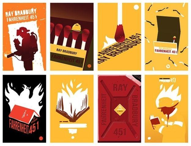 "12 Beautiful Redesigned Covers Of Literary Classics: ""Fahrenheit 451"""