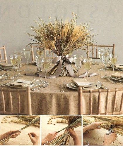 Best 25 wheat centerpieces ideas on pinterest for Wheat centerpieces