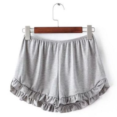 Shorts with a cute ruffle flair, these are perfect for jumping around on lazy days, so grab a pair. Material 100% Cotton