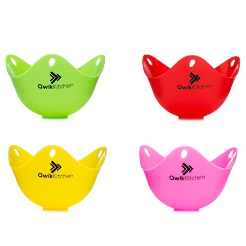 Super Cute Egg Poacher Cups - with Full Instruction Manual, Attractive Box Packaging - Stovetop Poached Egg Maker - Microwave Egg Cooker for Poached Eggs - Silicone Egg Poachers - 4 Pack Qwik Kitchen http://www.amazon.com/dp/B018VTLQK4/ref=cm_sw_r_pi_dp_XUx5wb1SB96WZ