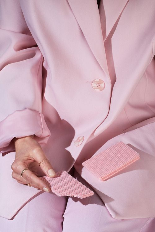Pink suit, pink wafers