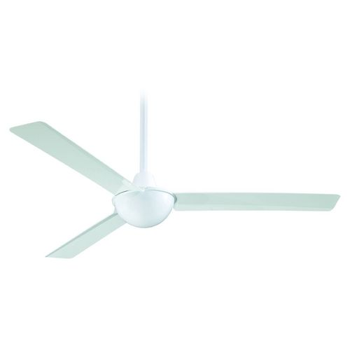 Minka Aire Fans Modern Ceiling Fan Without Light in White Finish | F833-WH | Destination Lighting