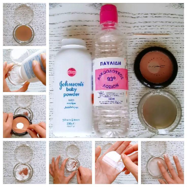 DIY compact powder
