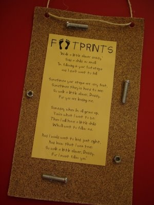Fathers day craft and poem. Would also be cute to include the kids actual foot prints somewhere.: Fathers Day Crafts, Gifts Ideas, Father Day Crafts, Sunday Schools, Foot Prints, Footprint Crafts, Father'S Day, Poem, Teacher Quotes