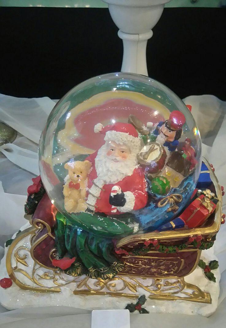 Santa's sleigh snow globe at Santa's wearhouse.