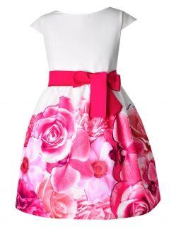 Sukienka w kwiaty dla dziewczynki 128-158 Anita 7 fuksja