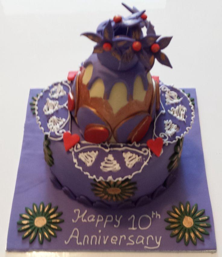 Poppy and Siju's 10th wedding anniversary cake