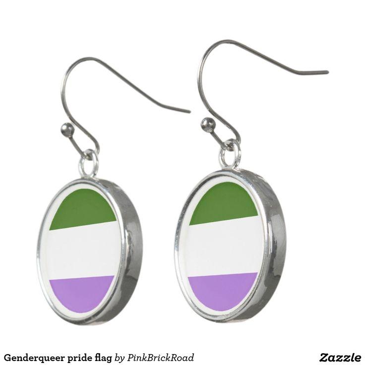 Genderqueer pride flag earrings