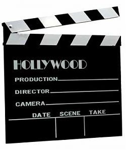 "HTD Canada Movie Clapboard Our Movie Clapboard is the perfect idea for the home theater enthusiast who wants a classic Hollywood icon. This clapboard is a fully functional device- the slate can be written on with regular chalk and the ""clapper"" is fully functional. Sized at 11"" x 12"", this item makes the perfect decor accessory to hang on your wall (with the built-in hanger on the back), or prop it up on your shelf"