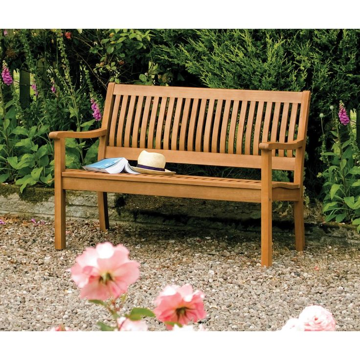 English Garden 48 Inch Wooden Bench By Bosmere