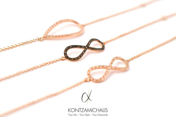 Beautifully made bracelets with black and white diamonds representing eternal love by #KontzamichalisJewellery