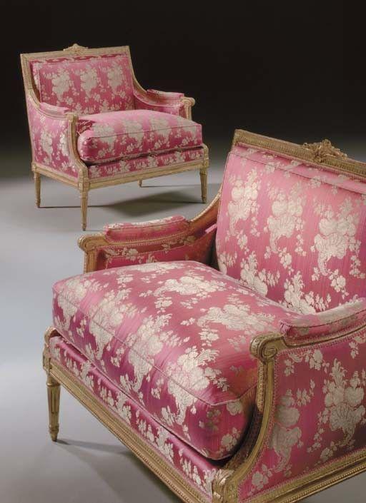 A Pair Of Louis Xvi Giltwood Marquises Paris Ca 1780 One