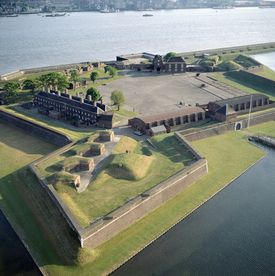 Tilbury Fort in Essex, England on the banks of the River Thames was built to defend London from attack from the sea, particularly during the Spanish Armada and the Anglo Dutch wars. by B. Lowe