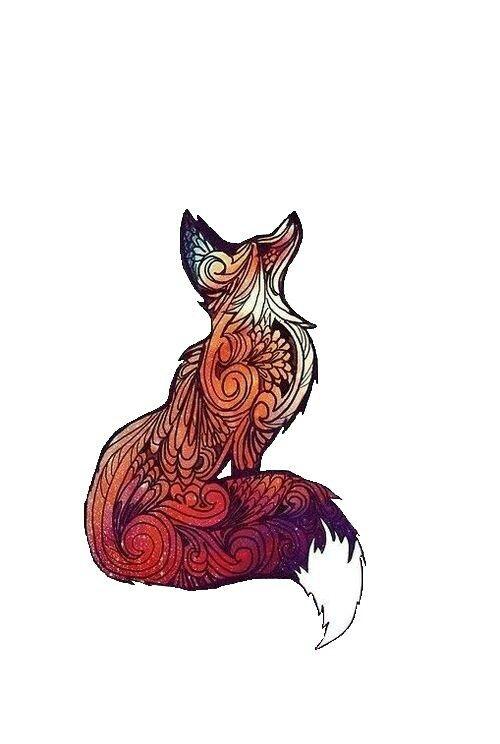 tribal print fox